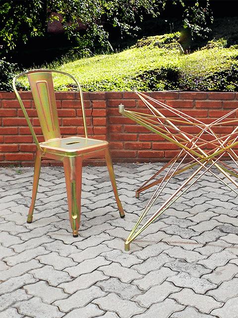 cadeira galvanizada bella brasil decor